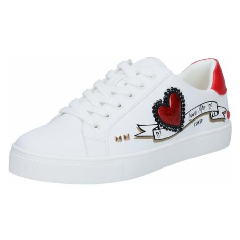 ALDO Nízke tenisky  biela / červená / čierna