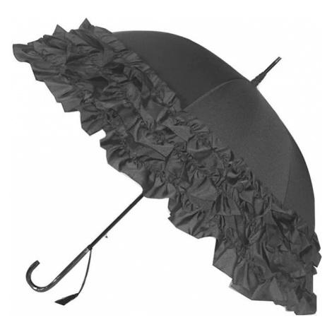 Blooming Brollies Dámsky palicový vystreľovací dáždnik Grey Trip le Frill BCS3FGR