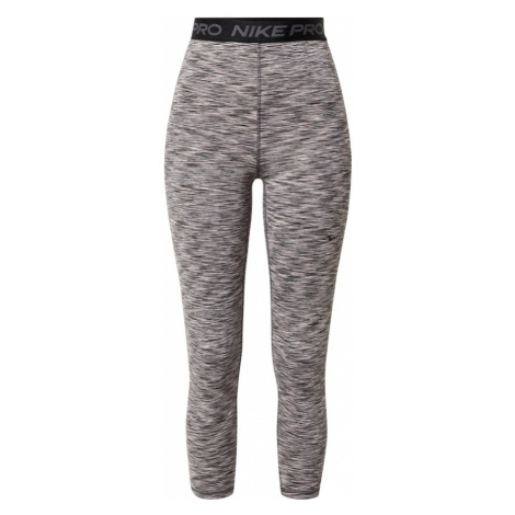 NIKE Športové nohavice  čierna / béžová / dymovo šedá