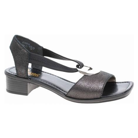Dámské sandály Rieker 62662-03 schwarz 62662-03