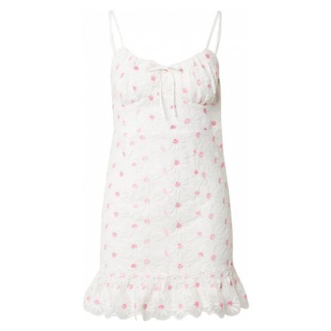 Love Triangle Letné šaty 'SUNSHINE'  biela / ružová