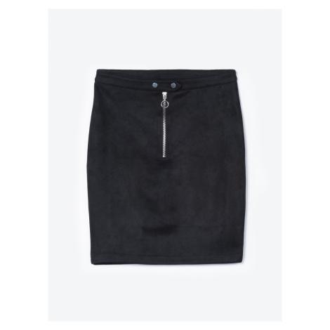 GATE Puzdrová sukňa so zipsom