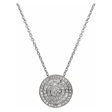 Hot Diamonds Strieborný náhrdelník s pravým diamantom Flora DP719 (retiazka, prívesok)