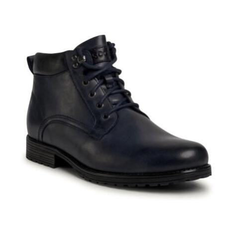 Modré pánske zimné topánky