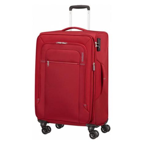 American Tourister Látkový cestovní kufr Crosstrack EXP M 71,5/77 l - červená