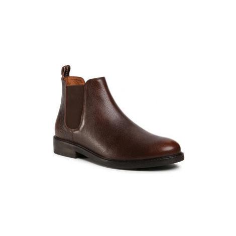 Gino Rossi Členková obuv s elastickým prvkom MI07-A962-A791-26 Hnedá