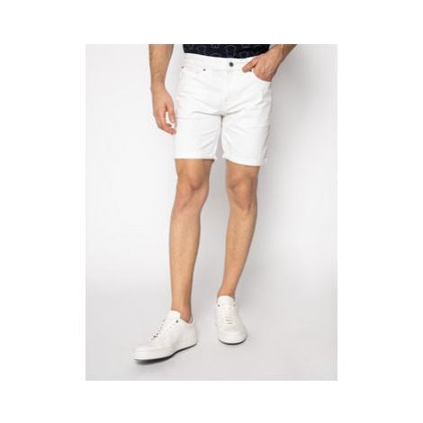 Guess Džínsové šortky M02D03 D3ZY1 Biela Slim Fit