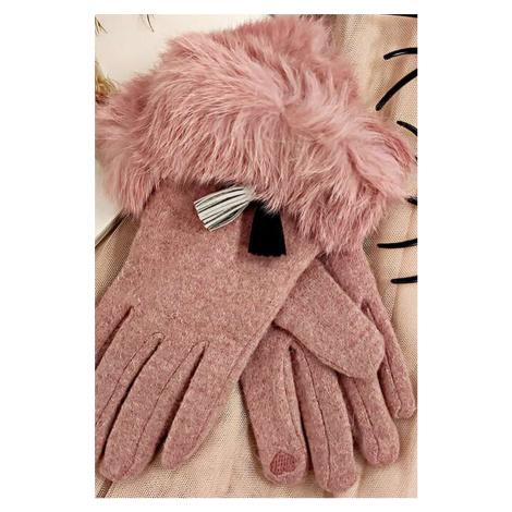 Ružové rukavice Polly