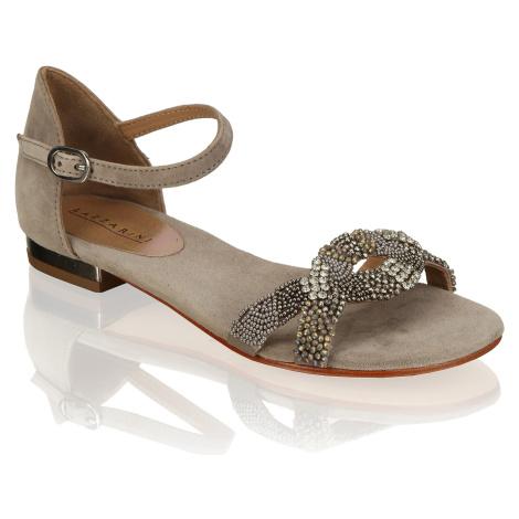 Lazzarini kombinácia s kožou Klasické sandále šedá