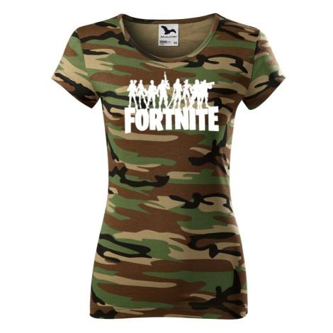 Dámske tričko s potlačou hry Fortnite - ideálne pre hráčky