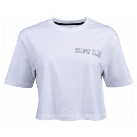 Calvin Klein CROPPED SHORT SLEEVE T-SHIRT biela - Dámske tričko