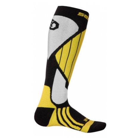 Ponožky Sensor Snow Pro čierna/žltá/biela 14200066