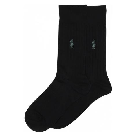 POLO RALPH LAUREN Ponožky 'RIB EGYPTIAN-SOCKS-2 PACK'  čierna
