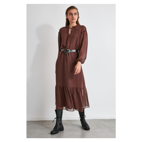 Trendyol Brown Arched Dress