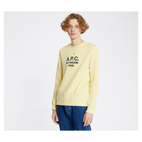 A.P.C. Rufus Crewneck Pale Yellow