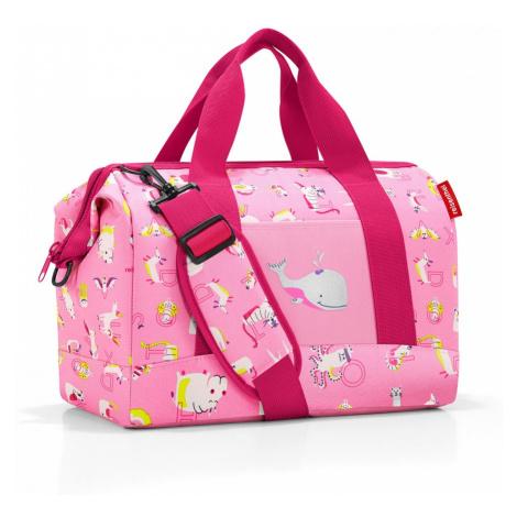 Cestovná taška Reisenthel Allrounder M Kids Abc Friends Pink