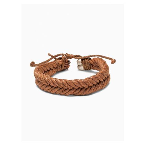Ombre Clothing Men's braided bracelet A207 Camel