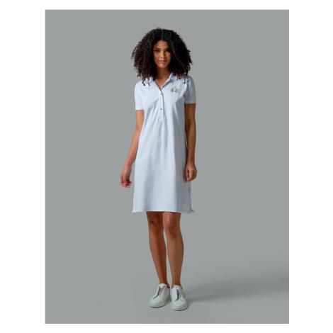 Šaty La Martina Womand Dress S/S Piquet Stretc