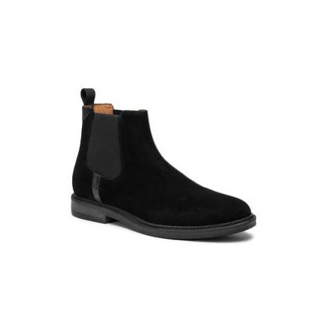 Gino Rossi Členková obuv s elastickým prvkom MI08-C641-639-05 Čierna