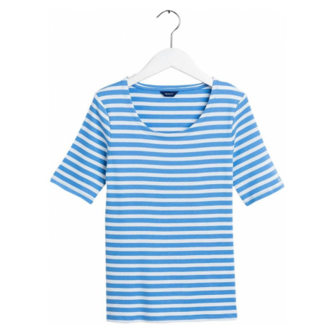 GANT Tričko  biela / modrá