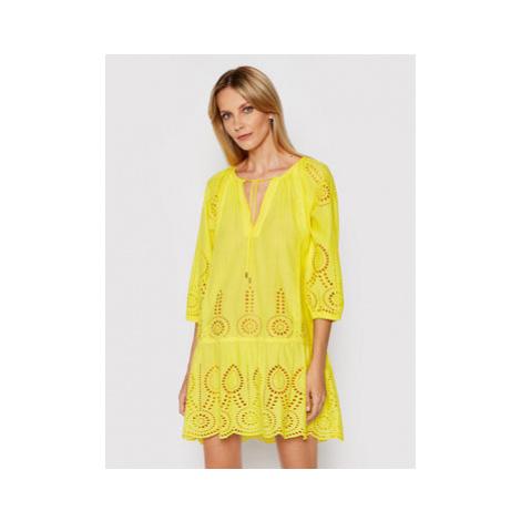 Melissa Odabash Plážové šaty Ashley SS Žltá Regular Fit