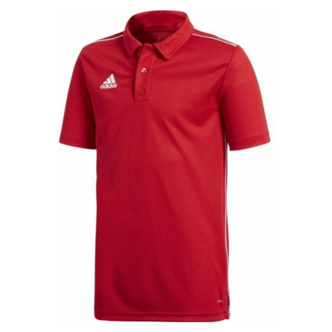adidas CORE18 POLO Y červená - Chlapčenské tričko polo