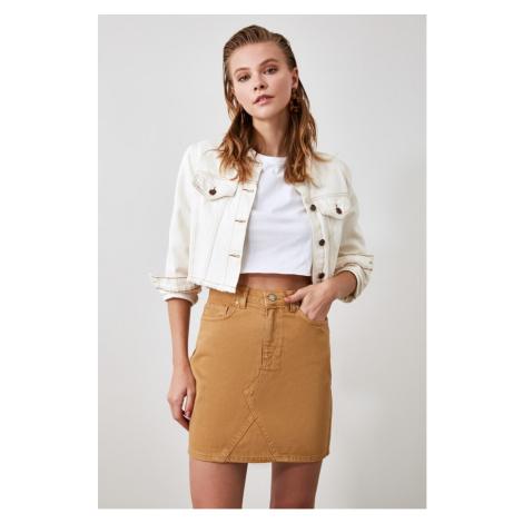 Trendyol Camel Denim Skirt
