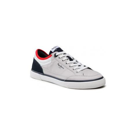 Pepe Jeans Sneakersy Kenton Sport Mesh PMS30698 Sivá