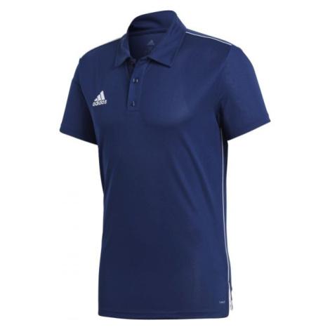 adidas CORE18 POLO tmavo modrá - Polo tričko