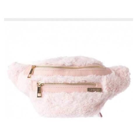Ľadvinka Spiral Faux Fur Pink BL Label Bum Bag - Veľkosť:UNI