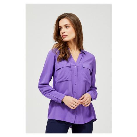Moodo fialová zapínacia košeľa