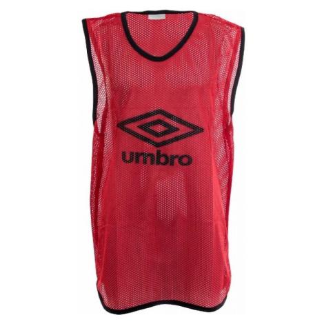 Umbro MESH TRAINING BIB - 65x52CM - Junior červená - Detský rozlišovací dres