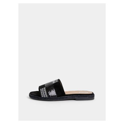 Čierne dámske semišové papuče Geox Kolleen