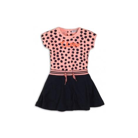 DIRKJE Šaty C- SO FRESH WONDERFUL 68 Pink/Black-Navy