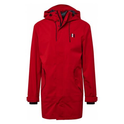 TOMMY HILFIGER Prechodný kabát  červená / biela / námornícka modrá