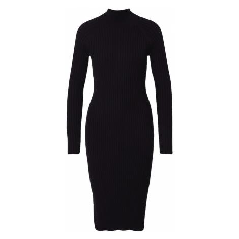 MOSS COPENHAGEN Pletené šaty 'Joye Erica'  čierna