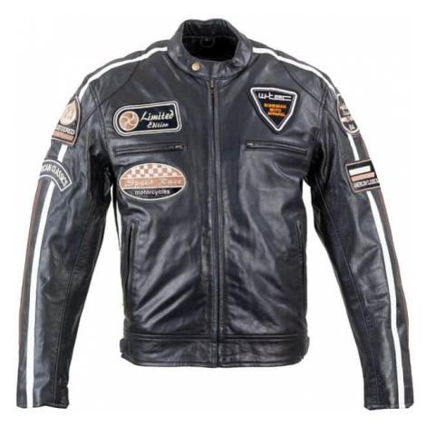 Pánska kožená moto bunda W-TEC Black Cracker Farba čierna