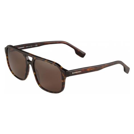BURBERRY Slnečné okuliare 'FRANCIS'  hnedá