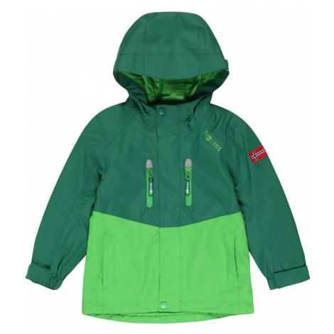 TROLLKIDS Outdoorová bunda 'Nusfjord'  svetlozelená / tmavozelená