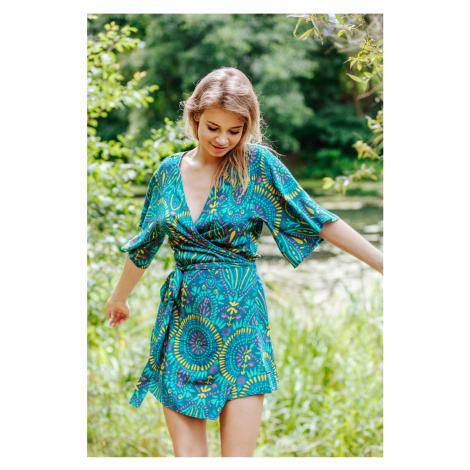 Zelené krátke kimonové šaty LHD 905 Key