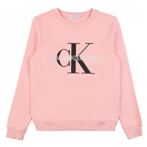 Calvin Klein Jeans Mikina  ružová / čierna / biela