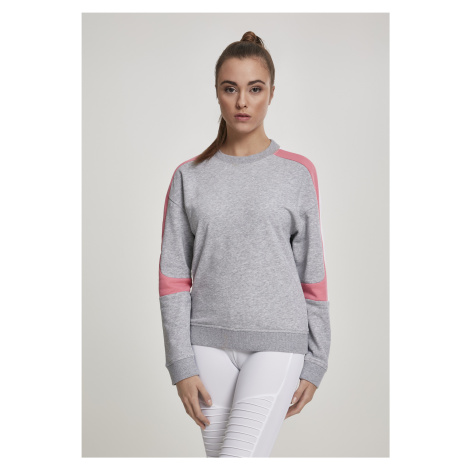Dámska mikina bez kapuce Urban Classics Ladies Panel Terry Crewneck