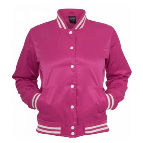 Urban Classics Ladies Shiny College Jacket fus/wht - Veľkosť:L