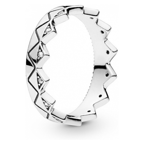 Pandora Luxusný strieborný prsteň Korunka 198033CZ mm