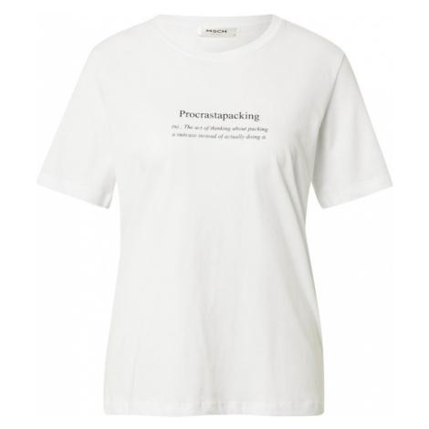 MOSS COPENHAGEN Tričko 'Alva'  biela / čierna