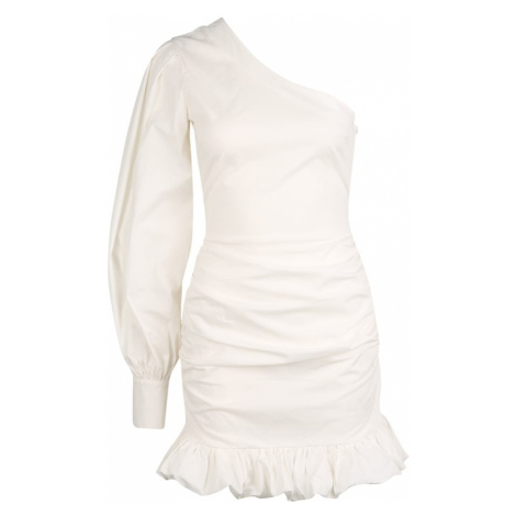Missguided (Petite) Šaty 'Poplin'  biela