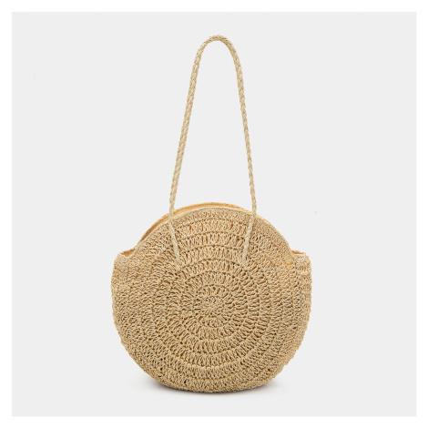 Mohito - Okrúhla slamená kabelka - Krémová