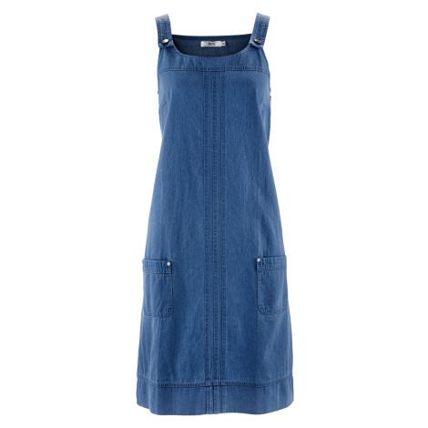 Džínsové šaty na traky bonprix