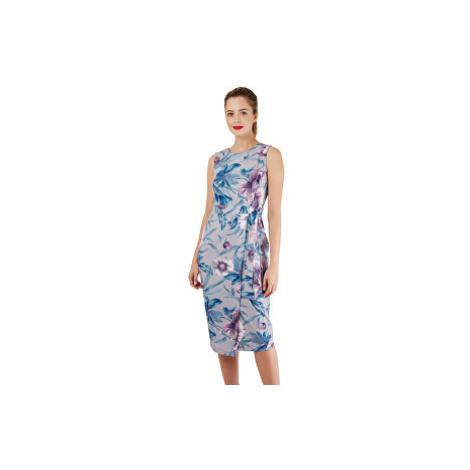 Closet London Dámske šaty Closet Tie V-Back Pencil Dress Grey