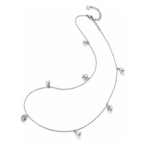 Oliver Weber Oceľový náhrdelník s perličkami Stay